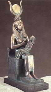 Isis alletant el seu fill Horus